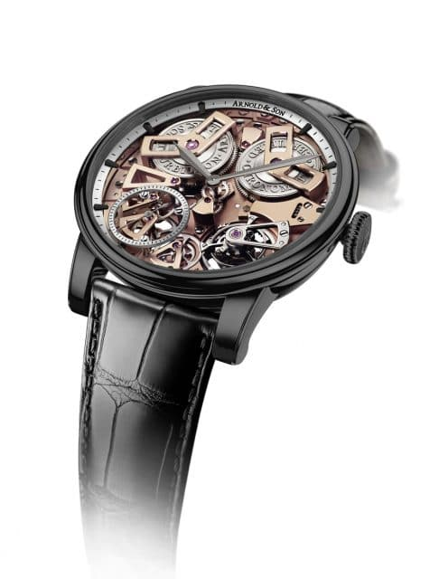 Arnold & Son: Tourbillon Chronometer No. 36 Gunmetal-Grau