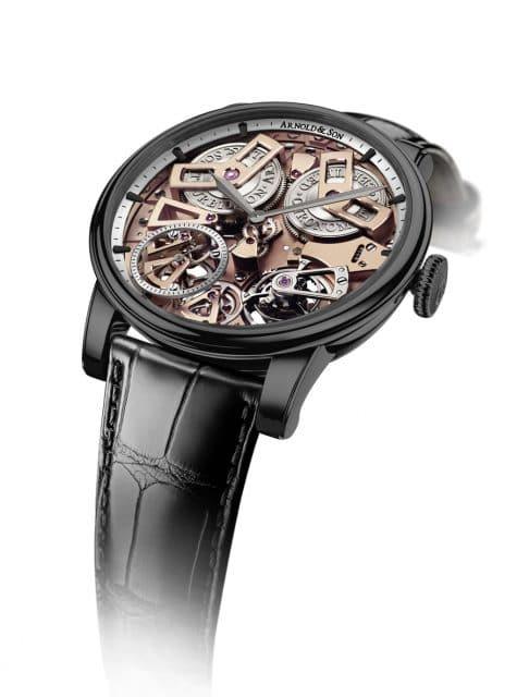 Arnold & Son: Tourbillon Chronometer No. 36 Gunmetal-Grau