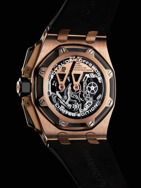 Rückseite des Royal Oak Offshore Tourbillon Chronographen