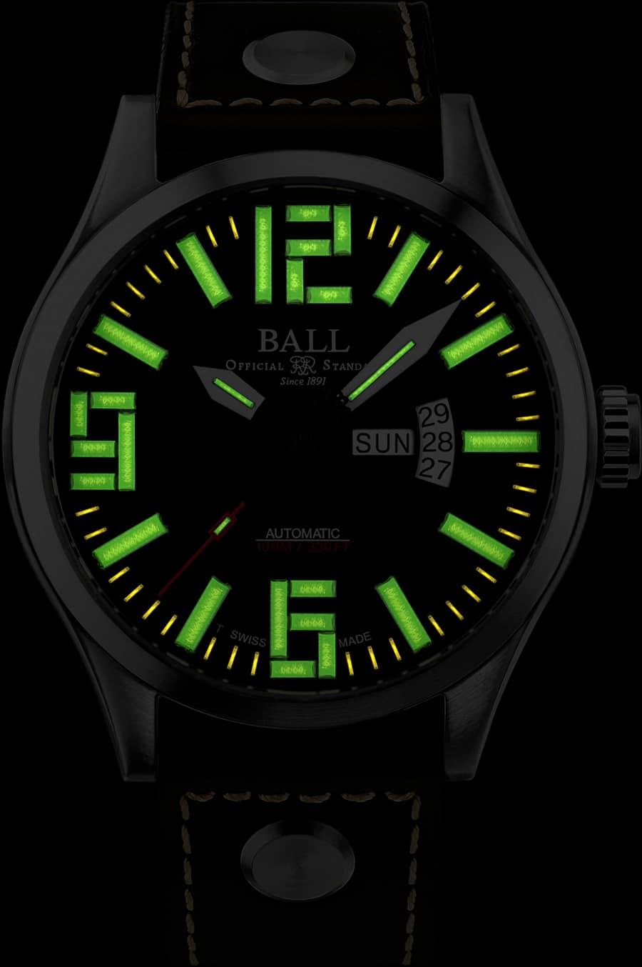 Ball Watch Engineer Master II Aviator Nachtansicht