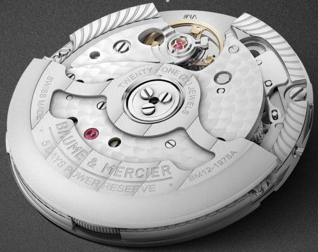 Baume & Mercier: Baumatic-Uhrwerk BM12-1975A