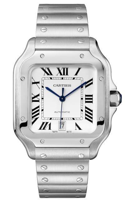Das große Modell der Cartier de Santos kostet 6.550 Euro.