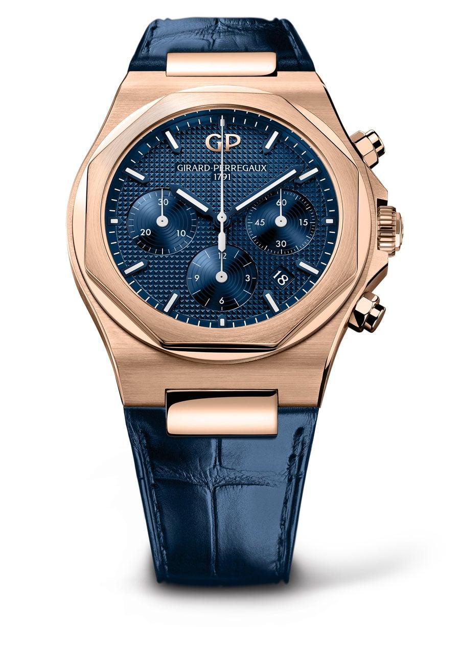 Girard-Perregaux: Laureato Chronograph in Roségold, 28.600 Euro