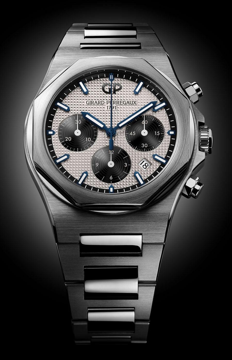 Girard-Perregaux: Laureato Chronograph in 42 Millimeter Edelstahl