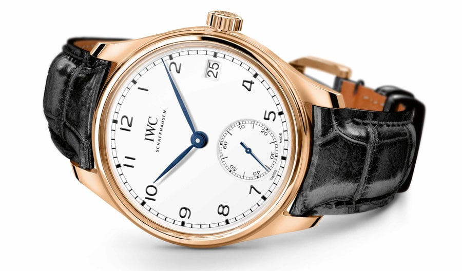 """IWC: Portugieser Hand-Wound Eight Days Edition """"150 Years"""" in Rotgold"""