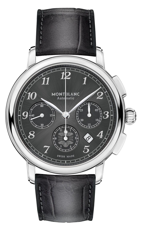 Montblanc: Star Legacy Automatic Chronograph mit Sfumato-Alligatorlederband