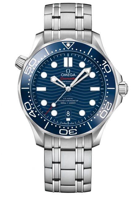 Omega: Seamaster Diver 300M in Edelstahl mit blauem Zifferblatt