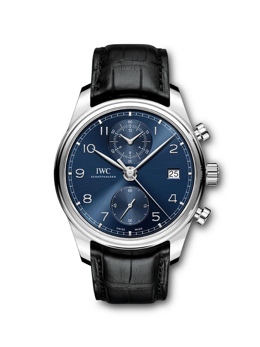 IWC: Portugieser Chronograph Classic mit blauem Zifferblatt