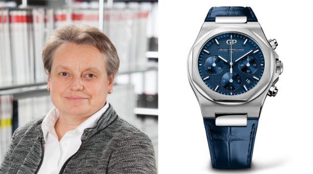 Martine Richter, stellvertretende Chefredakteurin UHREN-MAGAZIN, gefällt der Girard-Perregaux Laureato Chronograph am besten.