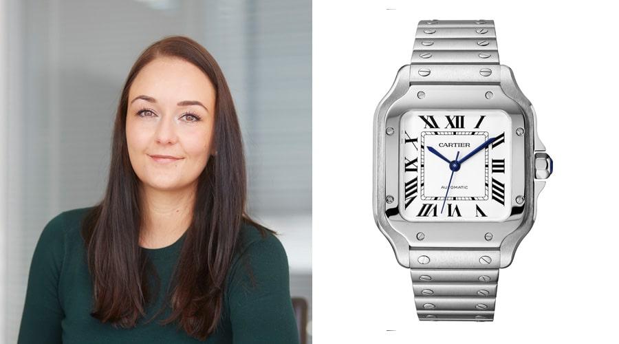 Die Cartier Santos de Cartier ist das Messe-Highlight von Melanie Feist, verantwortliche Redakteurin watchtime.net.