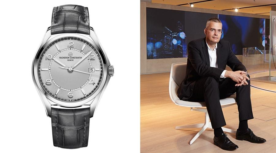 Rüdiger Bucher, Redaktionsdirekter Uhrenmedien und Chefredakteur Chronos, entscheidet sich für die Vacheron Constantin Fiftysix Automatic.