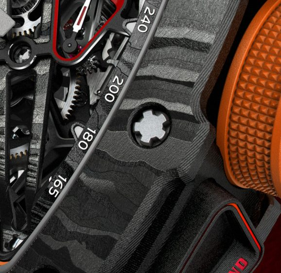 Die typische Schraubenform der Uhren von Richard Mille