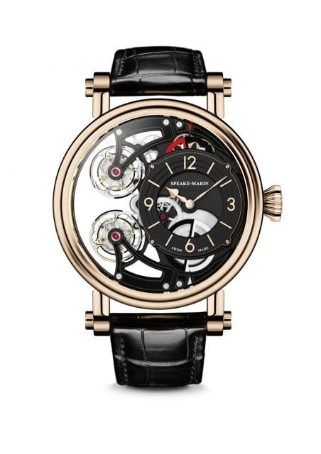 Speake-Marin: Vertical Double Tourbillon Openworked
