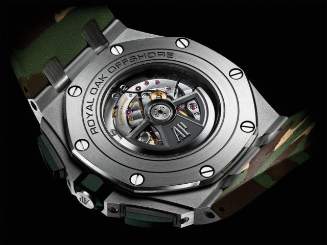 Im Royal Oak Offshore Chronograph Camouflage setzt Audemars Piguet das Automatikkaliber 3126/3840 ein