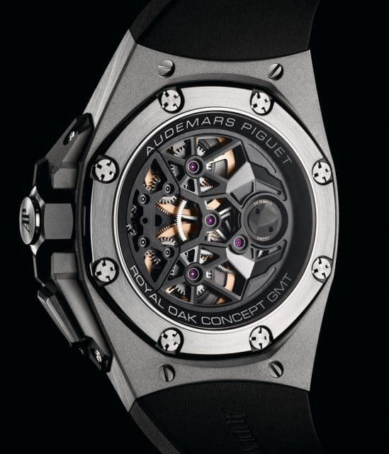 Die Royal Oak Concept Flying Tourbillon GMT von Audemars Piguet mit dem Handaufzugskaliber 2954