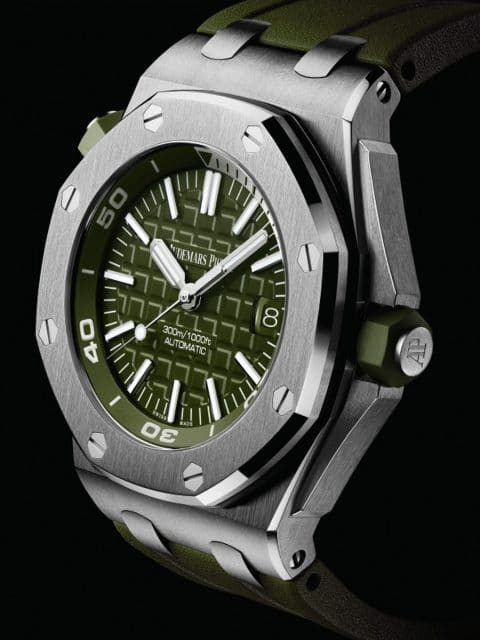 Audemars Piguet Royal Oak Offshore Diver in Khaki, Referenz: 15710ST.OO.A052CA.01