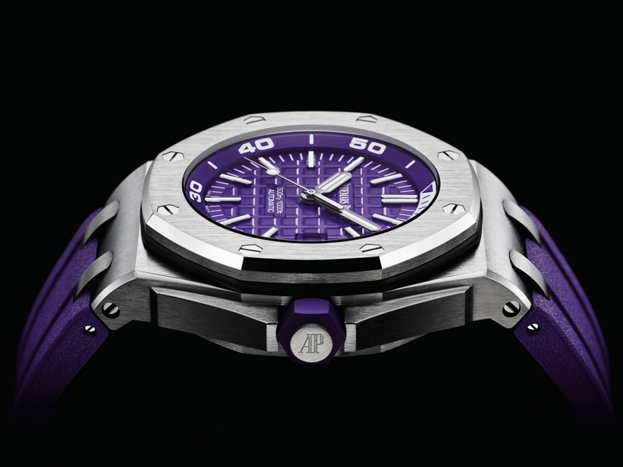 Audemars Piguet Royal Oak Offshore Diver Lila Referenz: 15710ST.OO.A077CA.01