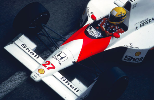 Ayrton Sennas McLaren mit Honda-Motor