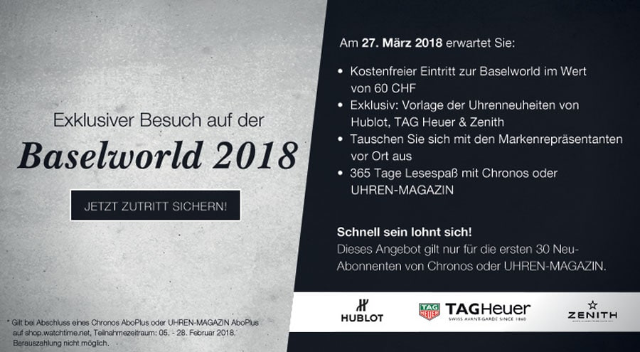 Exklusiver Besuch auf der Baselworld 2018