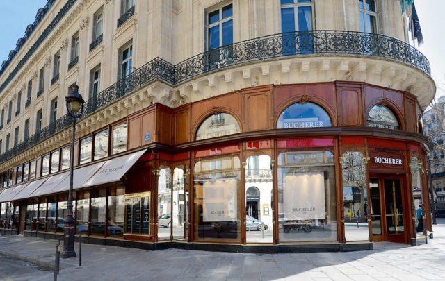 Die Niederlassung des Luzerner Juweliers Bucherer in Paris.