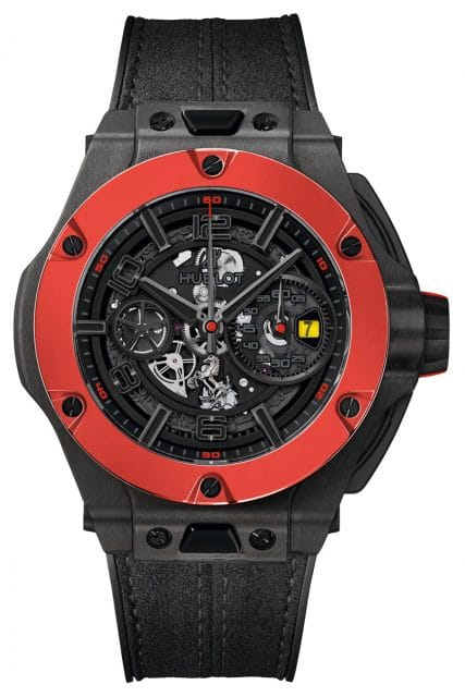 Hublot: Big Bang Ferrari Carbon Red Ceramic
