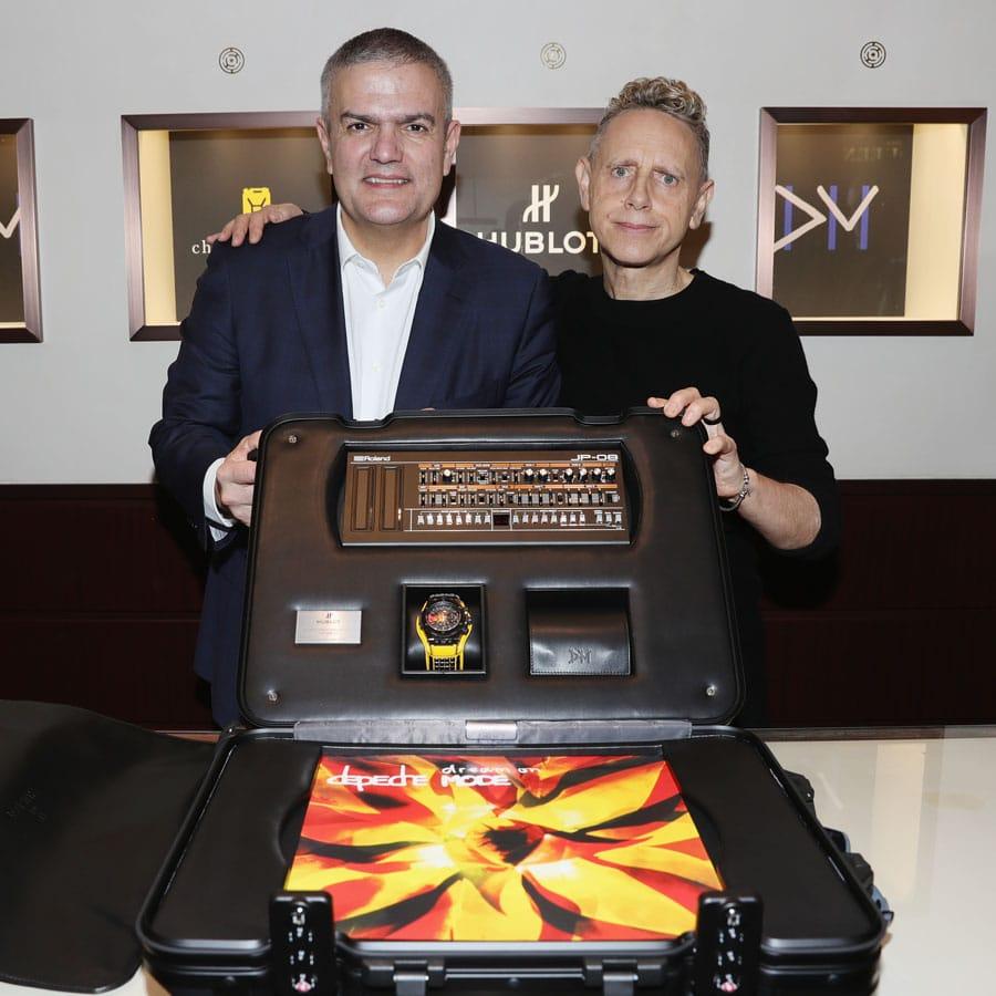 Hublot-CEO Ricardo Guadalupe und Martin Gore von Depeche Mode
