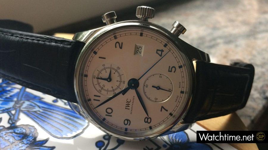IWC: Portugieser Chronograph Classic seitlich