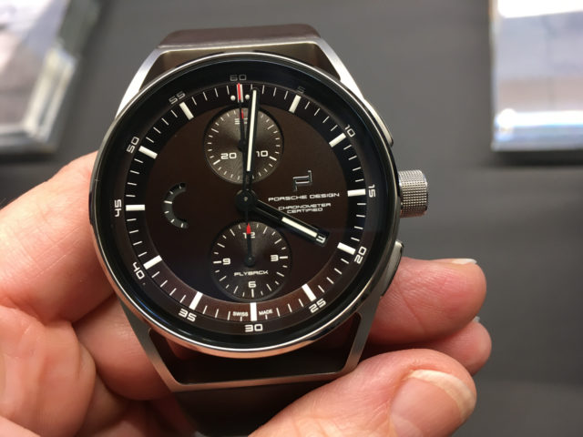 Porsche Design: 1919 Chronotimer Flyback Brown & Leather bei der Pressevorstellung