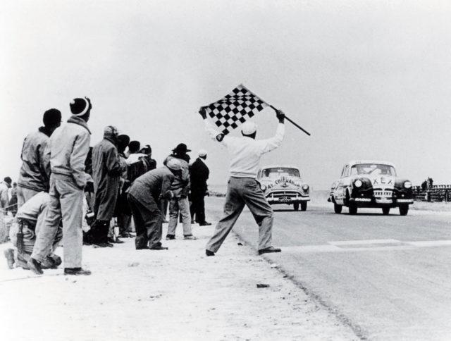 Zieleinfahrt der Carrera Panamericana