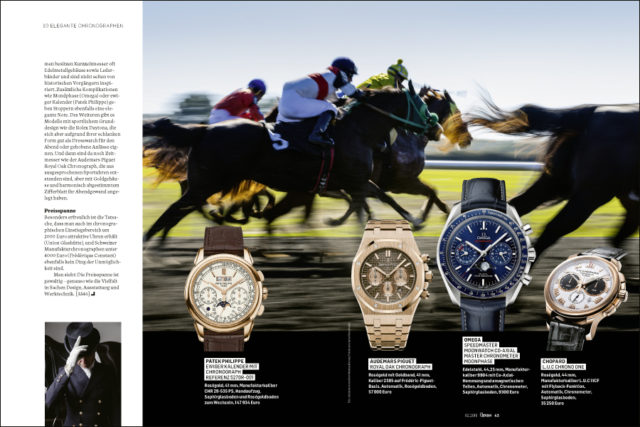 Patek Philippe, Audemars Piguet, Omega, Chopard: elegante Chronographen der aktuellen Saison