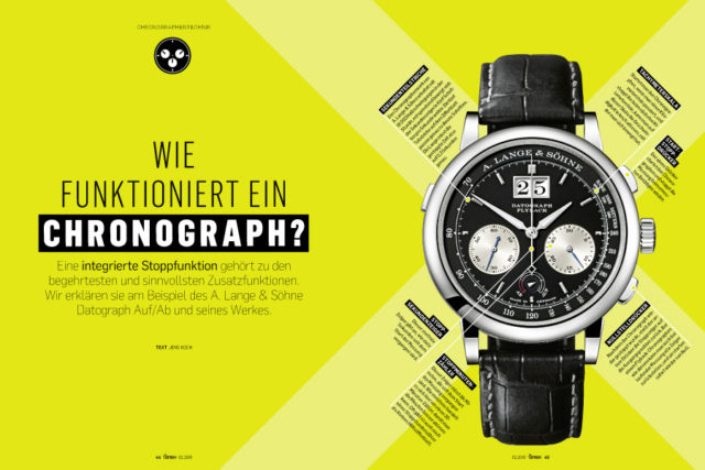 A. Lange & Söhne Datograph Auf/Ab: So funktioniert ein Chronograph