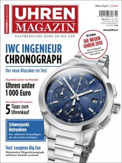 Die Titelseite der aktuellen UHREN-MAGAZIN-Ausgabe 2/2018.