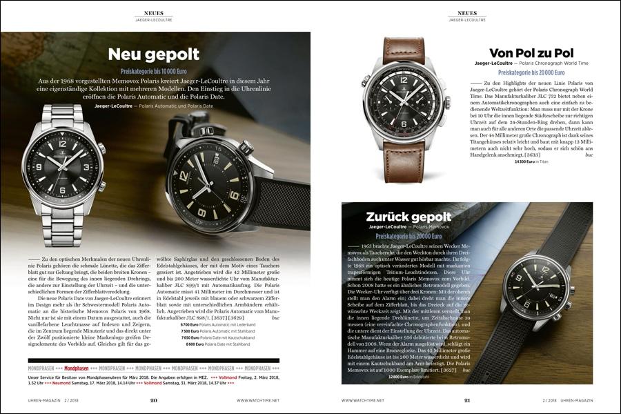 Auf 30 Seiten berichtet das UHREN-MAGAZIN über den Genfer Uhrensalon 2018 und seine Neuheiten.