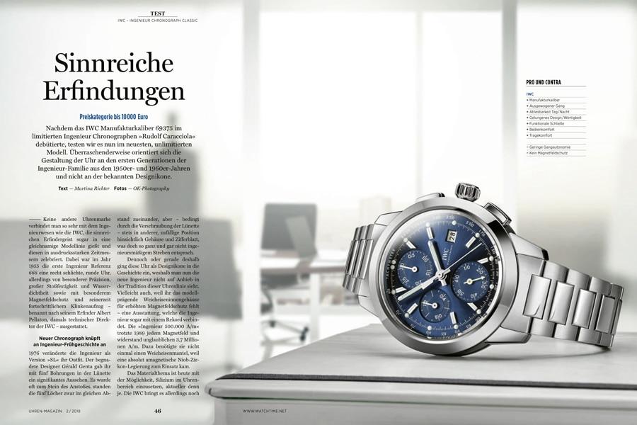 Der Chonorgraph Classic der neuen Ingenieur-Kollektion von IWC im Härtetest der UHREN-MAGAZIN -Redaktion.
