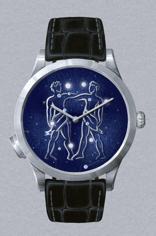 Van Cleef & Arpels: Midnight Zodiac Lumineux, Modell Zwillinge