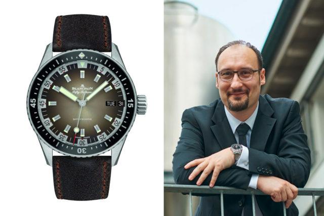 Das Highlight der Baselworld 2018 war für Roger Ruegger, Chefredakteur WatchTime USA, die Blancpain Fifty Fathoms Bathyscaphe Day Date 70s.