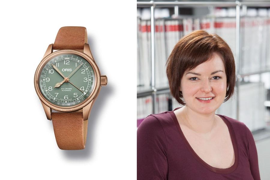 Melissa Gößling, Redakteurin UHREN-MAGAZIN, ist von der Oris Big Crown Pointer Date fasziniert.