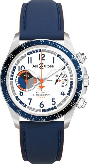 Bell & Ross: BRV2-94 Racing Bird Chronograph mit Lederband, 3.990 Euro
