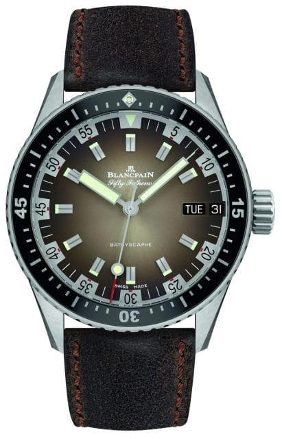Blancpain: Fifty Fathoms Bathyscaphe Day Date 70s