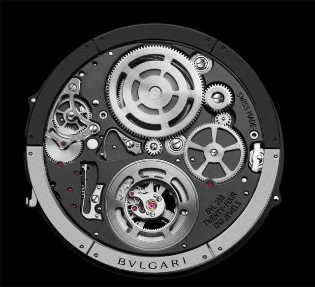 Bulgari Octo Finissimo Tourbillon Automatic Uhrwerk mit peripherem Rotor