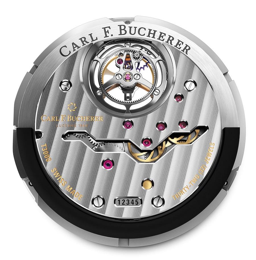 Das Automatikwerk der Double Peripheral nennt Carl F. Bucherer CFB T3000.