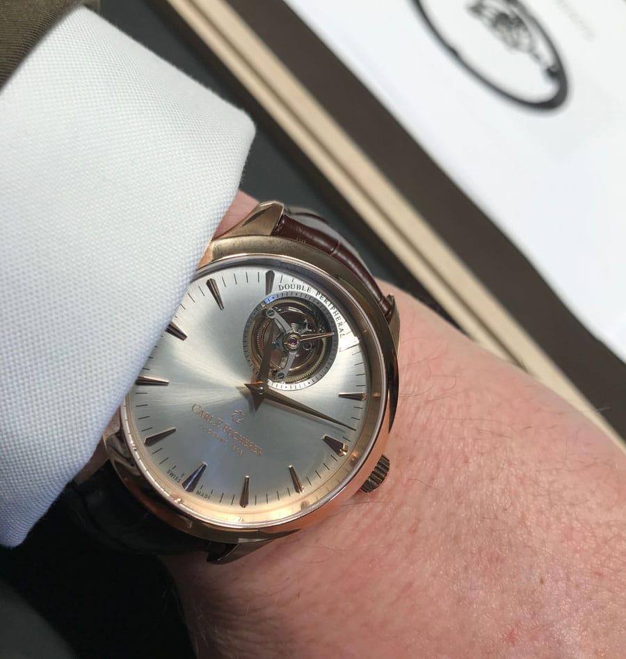 Wristshot Carl F. Bucherer: Manero Tourbillon Double Peripheral