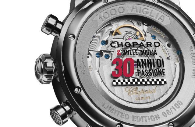 Der Boden der Chopard Mille Miglia 2018 Race Edition feiert die 30-jährige Partnerschaft.
