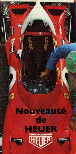 Ferrari-Rennwagen mit Heuer-Logo 1972