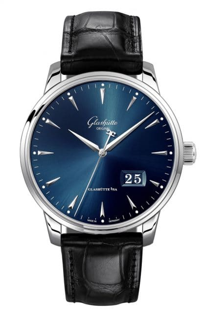 Glashütte Original: Senator Excellence Panoramadatum in Blau