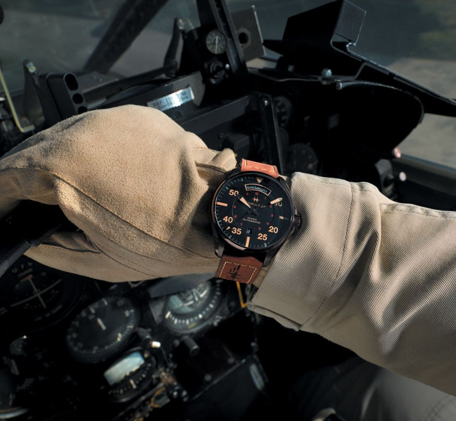 Hamilton: Khaki Pilot Auto Day Date