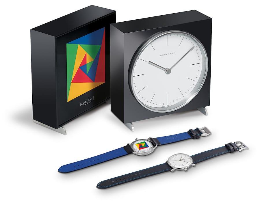"""Beide Uhren der Max-Bill-Edition 2018 von Junghans ziert auf der Rückseite die Grafik """"Sicherheit""""."""