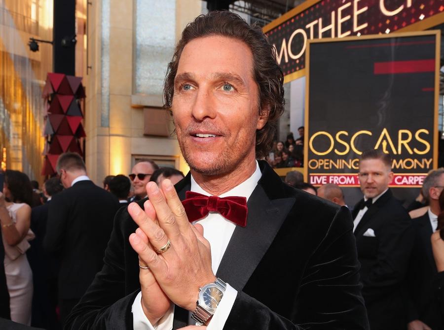 Schauspieler Matthew McConaughey trug bei der Oscarverleihung 2018 eine Bulgari Octo Roma
