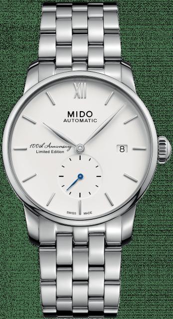 Diese Mido Baroncelli verkörpert die Gegenwart, ist auf 2018 Exemplare limitiert und kostet 970 Euro.
