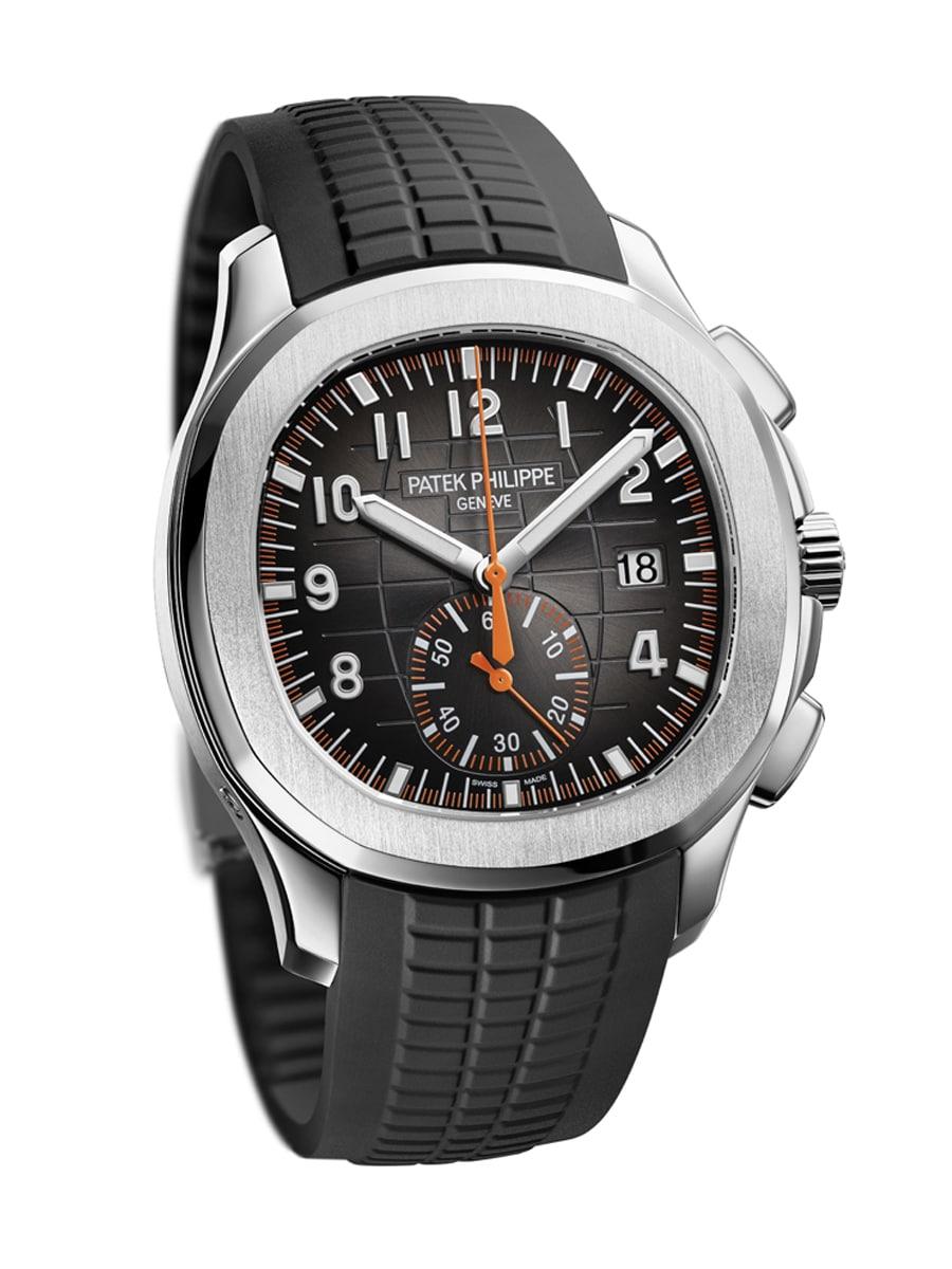 Patek Philippe Aquanaut Chronograph Referenz 5968A mit schwarzem Kautschukband